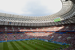 MOSCOW, RUSSIA - Sunday, July 1, 2018: Sunlight floods through the aperture of the stadium room during the FIFA World Cup Russia 2018 Round of 16 match between Spain and Russia at the Luzhniki Stadium. (Pic by David Rawcliffe/Propaganda)