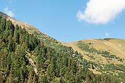 Summer Alpine mountainous landscape. Austria, Tyrol, Hohe Tauern National Park