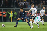 Dele Alli of England battles with Toni Kroos of Germany during the International Friendly match between Germany and England at Signal Iduna Park, Dortmund, Germany on 22 March 2017. Photo by Phil Duncan.