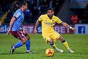 AFC Wimbledon forward Andy Barcham (17)  during the EFL Sky Bet League 1 match between Scunthorpe United and AFC Wimbledon at Glanford Park, Scunthorpe, England on 28 February 2017. Photo by Simon Davies.