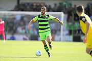 Aarran Racine (21) of Forset Green Rovers on the attack during the Vanarama National League match between Forest Green Rovers and Southport at the New Lawn, Forest Green, United Kingdom on 29 August 2016. Photo by Graham Hunt.