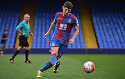 Jake Gray plays a ball out wide during the Final Third Development League match between U21 Crystal Palace and U21 Bristol City at Selhurst Park, London, England on 3 November 2015. Photo by Michael Hulf.