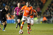 Blackpool's Bright Osayi-Samuel (21) during the The FA Cup 3rd round match between Blackpool and Barnsley at Bloomfield Road, Blackpool, England on 7 January 2017. Photo by Craig Galloway.