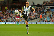 Newcastle United striker Jonjo Shelvey (12) plays a pass 0-1 during the EFL Sky Bet Championship match between Aston Villa and Newcastle United at Villa Park, Birmingham, England on 24 September 2016. Photo by Alan Franklin.