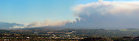Brea Canyon Fire Panoramic, Southern California - 11/15/08