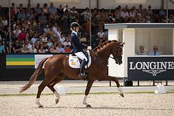 Bronkhurst Juliane, GER, Ibiza<br /> World ChampionshipsYoung Dressage Horses<br /> Ermelo 2018<br /> © Hippo Foto - Stefan Lafrentz<br /> 04/08/2018