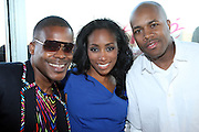 l to r: Mario Wilson, Michelle Murray and DJ D-Nice at The Launch Party for The Alize Ground-Breaking Online Reality Series Concrete & Cashmere Web Based Reality Show held at The Cooper Square Hotel on July 9, 2009 in New York City