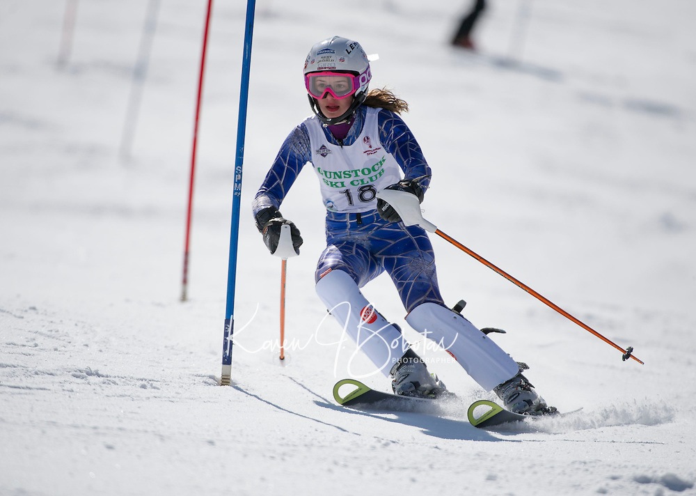 Piche Invitational Slalom 2nd run U12 girls Sunday, March 17, 2013.  Karen Bobotas Photographer