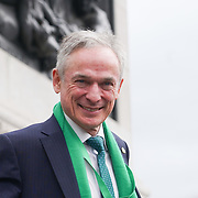 Richard Bruton TD, Minister for Education and Skills ,Irish Government attends the London's St Patrick's Parade  on 19th March 2017. by See Li