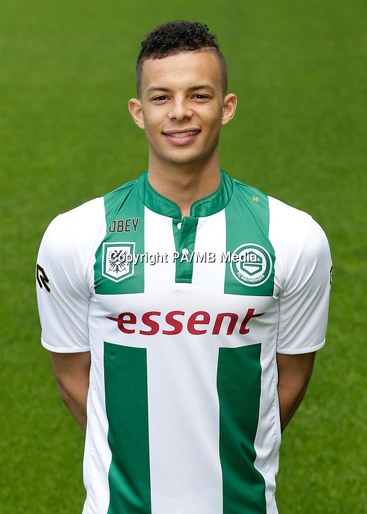 Desevio Payne of FC Groningen during the team presentation of FC Groningen on June 29, 2015 at the Euroborg in Groningen, The Netherlands.