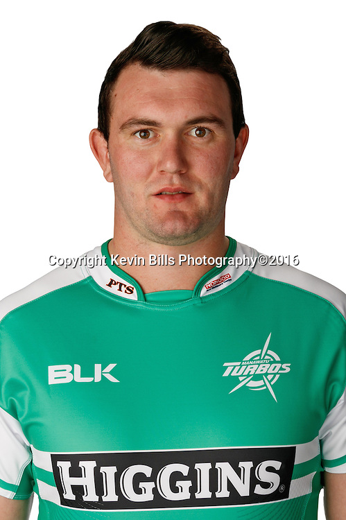 Tom Parsons.<br /> Headshots of the Manawatu Tubos rugby team to compete in the 2016 season of the Mitre 10 Cup Premiership.<br /> Photo credit: www.manawaturugby.co.nz