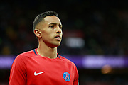 Paris Saint Germain's Brazilian defender Marquinhos reacts during the French championship L1 football match between Paris Saint-Germain (PSG) and Saint-Etienne (ASSE), on August 25, 2017 at the Parc des Princes in Paris, France - Photo Benjamin Cremel / ProSportsImages / DPPI