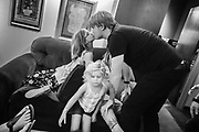 Chris Dudley of Underoath spends time with his family before the band's show on April 24, 2016 at Hard Rock Live in Orlando, Florida