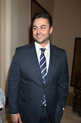 DREW BAKER winner of Masterchef 2010 at a reception in honour of Anna del Conte held at The Italian Emabssy, Grosvenor Square, London on 9th November 2015.