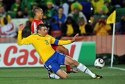 Football - soccer: FIFA World Cup South Africa 2010, Brazil (BRA) - Korea DPR (PRK), Lucio