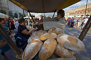 Poland, Krakow. Rynek Glówny (Market Square). Bread.