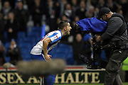 Brighton & Hove Albion winger Anthony Knockaert (11) scores a goal 1-0 and celebrates during the EFL Sky Bet Championship match between Brighton and Hove Albion and Derby County at the American Express Community Stadium, Brighton and Hove, England on 10 March 2017.
