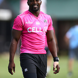 DURBAN, SOUTH AFRICA - APRIL 10: Lwazi Mvovo of the Cell C Sharks during the Cell C Sharks training session at Jonsson Kings Park on April 10, 2018 in Durban, South Africa. (Photo by Steve Haag/Gallo Images)
