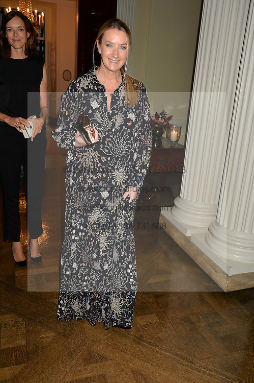 ANYA HINDMARCH at a party to kick off London Fashion Week hosted by US Ambassador Matthew Barzun and Mrs Brooke Brown Barzun with Alexandra Shulman in association with J.Crew hrld at Winfield House, Regent's Park, London on 18th September 2015.