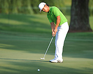 Golfer Anthony Kim putts on the 10th hole at the PGA FedEx St. Jude Classic at TPC Southwind in Memphis, Tenn. on Thursday, June 9, 2011.