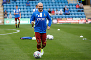 Bradford City Midfielder Nicky Law (7) warms up before kick off during the EFL Sky Bet League 1 match between Gillingham and Bradford City at the MEMS Priestfield Stadium, Gillingham, England on 12 August 2017. Photo by Andy Walter.