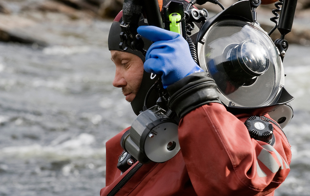 On location images shot by Patrik Karlsson. All rights still by Aqua Graphics<br /> River Orkla, Norway<br /> Model name: Magnus Lundgren