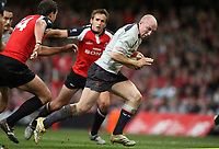 Photo: Rich Eaton.<br /> <br /> Wales v Canada. Invesco Perpetual Series. 17/11/2006. Tom Shanklin right of Wales attacks