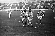 13/09/1970<br /> 09/13/1970<br /> 13 September 1970<br /> All-Ireland Intermediate Semi-Final: Dublin v Antrim at Croke Park, Dublin.<br /> Three Dublin players on the left led by V. Flood race for the ball as Antrim full-forward, P. McShane, comes in from the right.