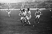13/09/1970<br /> 09/13/1970<br /> 13 September 1970<br /> All-Ireland Intermediate Semi-Final: Dublin v Antrim at Croke Park, Dublin.<br /> Three Dublin players on the left led by V. Flood race for the ball as Antrim full-forward, P. McShane, comes in from the right.