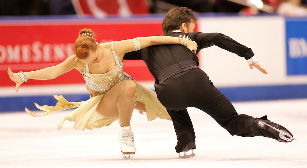 (Ottawa, ON---2 November 2008)  Kristina Gorshkova and Vitali Butikov of Russia competes in the ice dance free skate at the 2008 HomeSense Skate Canada International figure skating competition. . Photograph copyright Sean Burges/Mundo Sport Images (www.msievents.com).