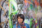 Stipendiatin Eka Kevanishvili fotografiert für das Prager Literaturhaus.