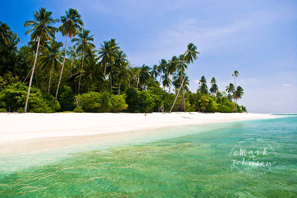 Beach on Pulau Pittojat, Mentawai Islands, Indonesia