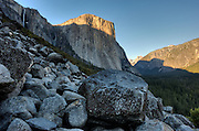 View of Yosemite valley,  el capitan, half dome, and horsetail falls.