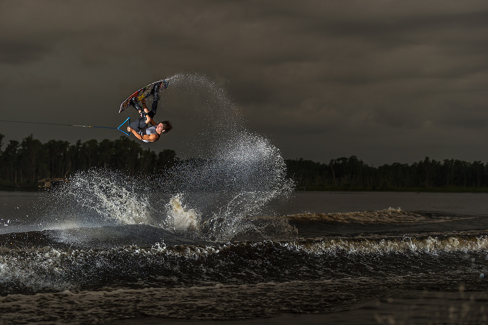 aaron rathy shot for transworld wakeboarding in windermere florida