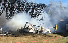 Christchurch-Caravan destroyed by fire at Leithfield Camping Grounds