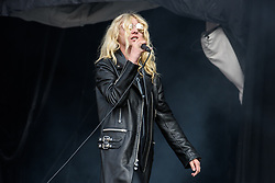 August 26, 2017 - Reading, Berkshire, UK - Reading Festival 2017, Reading, UK. Main stage: The Pretty Reckless performing.  Taylor Momsen pictured. (Credit Image: © Andy Sturmey/London News Pictures via ZUMA Wire)