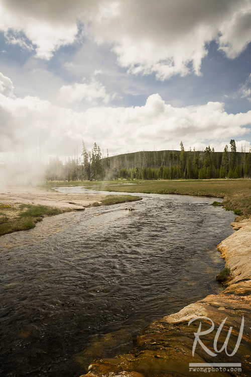 Iron Spring Creek at Black Sand Basin, Yellowstone National Park, Wyoming