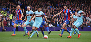 James Tomkins deals with the danger during the Barclays Premier League match between Crystal Palace and West Ham United at Selhurst Park, London, England on 17 October 2015. Photo by Michael Hulf.
