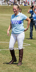 A pregnant Zara Phillips plays in the Eventers vs Riders charity Polo The Rundle Cup, whilst husband Mike Tindall watches on at Tidworth Polo Club,Wiltshire, United Kingdom<br />