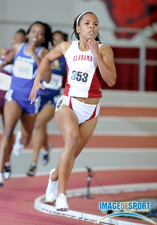 Mar 14, 2008; Fayetteville, AR, USA; Trish Bartholomew of Alabama wins women's 400m heat in 52.32 in the NCAA indoor track and field championships at the Randal Tyson Center.