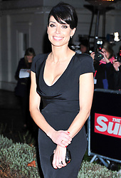 © Licensed to London News Pictures. 19/12/2011. London, England. Christine Bleakley attends a Night Of Heros , the Sun Military Awards 2011 held on Monday 19th Dec at the Imperial War Museum London . the awards will be televised on Wed 21st December 2011 .  Photo credit : ALAN ROXBOROUGH/LNP