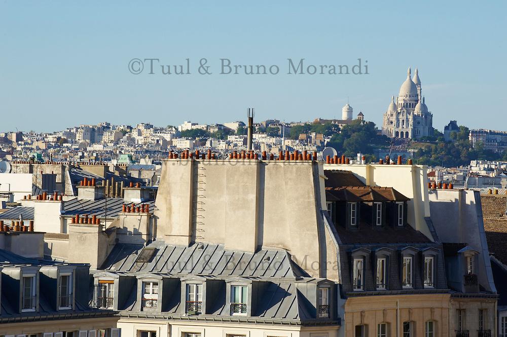 France, Paris (75), la basilique du Sacré-Coeur sur la colline de Montmartre // France, Paris, the Sacré Coeur in Montmartre