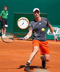 17.04.2012 Country Club, Monte Carlo, MON, ATP World Tour, Rolex Masters, 2. Runde, im Bild Andy Murray (GBR) in action during the second round match betweenAndy Murray (GBR) and Viktor Troicki (SRB)   during Rolex Masters tennis tournament second Round of ATP World Tour at Country Club, Monte Carlo, Monaco on 2012/04/17. EXPA Pictures © 2012, PhotoCredit: EXPA/ Mitchell Gunn