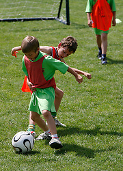 Boys playing football.  (Photo by: Vid Ponikvar / Sportal Images).