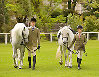 Padraic Flanagan from Loughrea and Cashelbay Prince with Emma O Toole  from Sky Road Clifden with Cashelbay Joe at the showgrounds in Clifden at the launch of the 2011 Connemara Pony Festival will run from Sunday 14th August to Sunday 21st August. The festival is built around the world renowned Connemara Pony Show which takes place on Thursday 18th August and Friday 19th August. A number of new events have been added to the schedule of events for 2011. These include a historic bus tour, a best dressed lady competition and the Clifden High Performance Class. Photo:Andrew Downes. Photo issued with compliments, no reproduction fee.