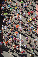 Tower Bridge during  The Virgin Money London Marathon 2014. Sunday 13 April 2014<br /> <br /> Photo: Bob Martin/Virgin Money London Marathon<br /> <br /> media@london-marathon.co.ukRunners crossing Tower Bridge during  The Virgin Money London Marathon 2014. Sunday 13 April 2014<br /> <br /> Photo: Bob Martin/Virgin Money London Marathon<br /> <br /> media@london-marathon.co.uk