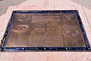 Plaque at Four Corners Monument, New Mexico