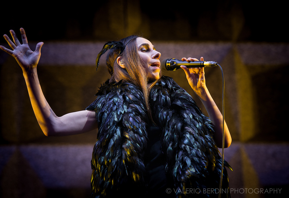 PJ Harvey Headlining Field Day Festival in London on Sunday, 12 June 2016.