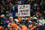 Fans watch the San Francisco Giants take on the Colorado Rockies at AT&T Park in San Francisco, California, on April 14, 2017. (Stan Olszewski/Special to S.F. Examiner)