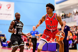 Justin Gray of Bristol Flyers is marked by Rahmon Fletcher of Newcastle Eagles- Photo mandatory by-line: Ryan Hiscott/JMP - 03/11/2018 - BASKETBALL - SGS Wise Arena - Bristol, England - Bristol Flyers v Newcastle Eagles - British Basketball League Championship